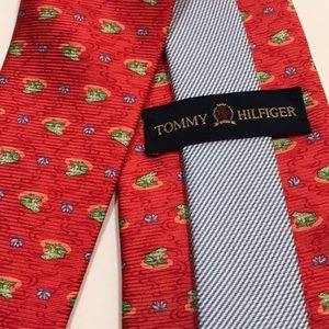Tommy Hilfiger Accessories - Tommy Hilfiger men's neck tie - orange & green